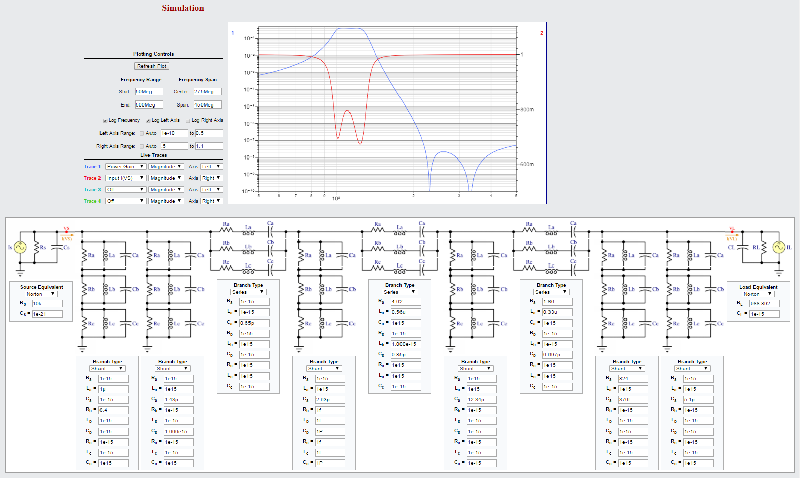 Fantastic New Ac Simulator Wip Page 1 Falstadbestonlinecircuitsimulator Note The Load Impedance Changed To Higher Resistance And Somewhat Lower Capacitance This Is Allowable For Application Following Stage A