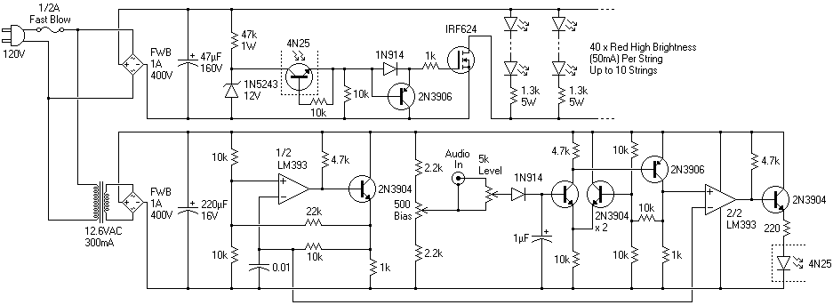 Notes And Circuits For Input Amp Nominal Peak Led